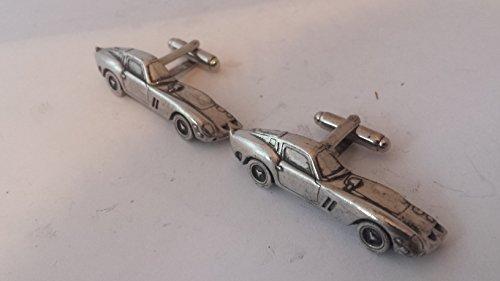 Ferrari GTO 250 3D Boutons de manchette fabriqué à partir de fin anglais en étain