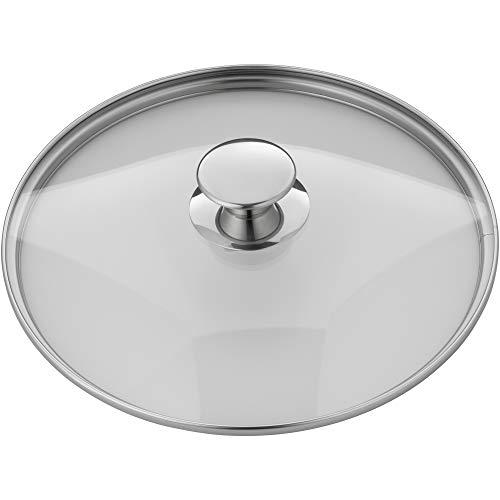Silit Pisa Topfdeckel 24 cm, Glasdeckel mit Metallgriff, hitzebeständiges Glas, spülmaschinengeeignet