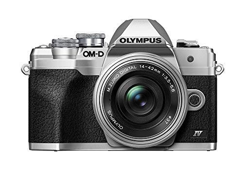 Olympus OM-D E-M10 Mark IV Silver Body with Silver M.Zuiko Digital ED 14-42mm F3.5-5.6 EZ Lens Kit