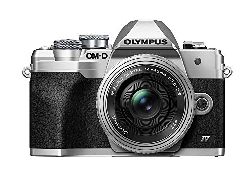 Olympus OM-D E-M10 Mark IV Silver Body with Silver M.Zuiko Digital ED 14-42mm F3.5-5.6 EZ Lens Kit