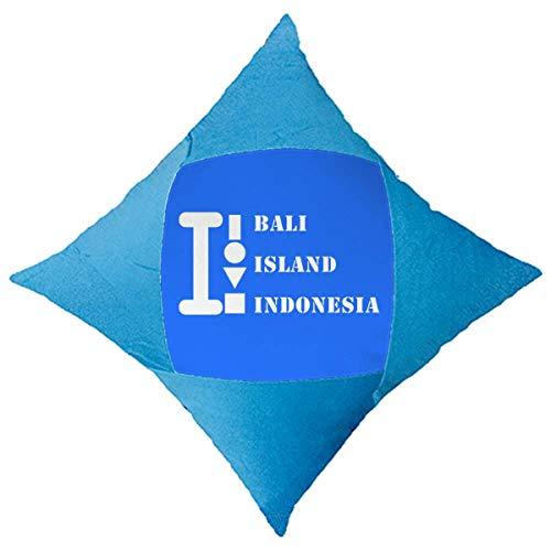 OFFbb-USA Bali Island Indonesia - Funda de almohada decorativa para cama de coche, color azul