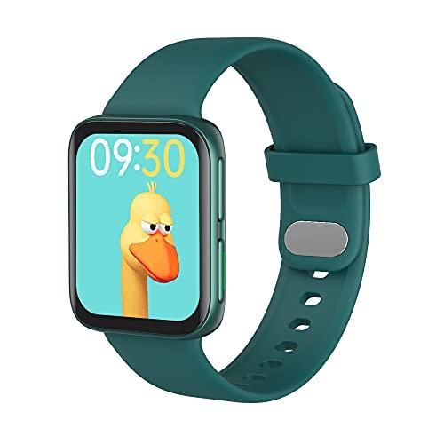 WUMN Reloj Inteligente 2021 Relojes para Hombres Y Mujeres Rastreador de Actividad Reloj Inteligente con Pantalla Táctil Reloj de Fitness Monitor de Ritmo Cardíaco/Sueño Oxígeno en