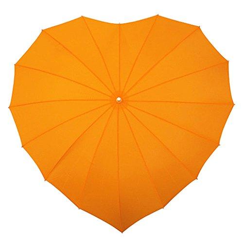Impliva harde paraplu met UV-bescherming - oranje