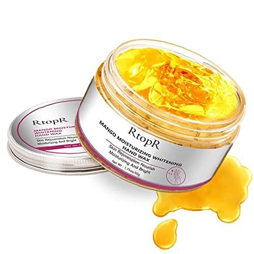 Hidratante de la Mano de Cera para Las Mujeres blanquear la Piel de la Mano de la Cara de la Cubierta de reparación Exfoliante Callos película Anti-envejecimiento de la Mano de Mango Skin Cream 50g