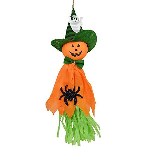 1 ST Halloween opknoping pop kwast slinger decoratie rekwisieten ornamenten geest hanger Halloween partij benodigdheden 35 * 18cm ORANJE