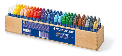 Staedtler 2240 S100 - Noris Club Wachsmalkreide 100 Stück im Holzaufsteller