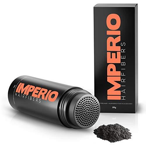 Fibras capilares Imperio – Para disimular la caída de cabello – Microfibras naturales de algodón resistentes – Negro