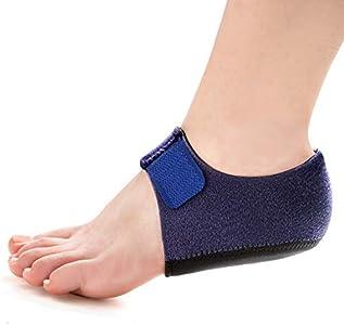 Welnove - Protectores de talón, almohadillas de talón, soporte para el talón para aliviar el dolor de talón de la fascitis plantar, estímulo del talón, tendinitis, talones agrietados