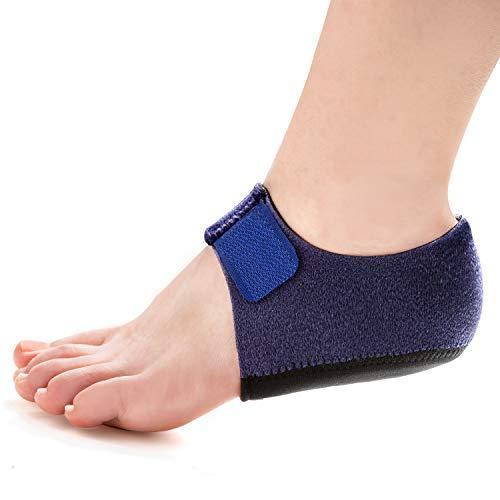 Welnove 2PCS Heel Protectors, Heel Sleeves Pads, Heel Pads Cushion, Heel Support for Relieving Heel Pain from Plantar Fasciitis - Heel Spur -Tendinitis- Cracked Heels