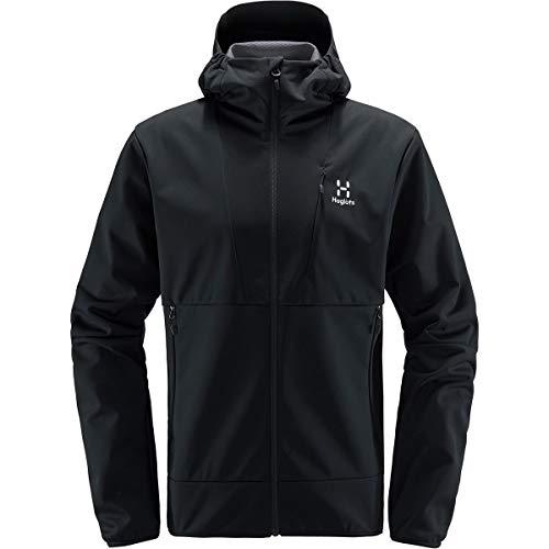 Haglöfs Softshelljacke Herren Multi Flex Hood wasserabweisend, windabweisend, Stretch True Black M M