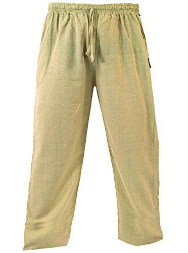 Guru-Shop Yogahose, Goa Hose, Herren, Beige, Baumwolle, Size:XL (52), Männerhosen Alternative Bekleidung