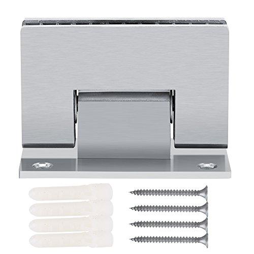 YOPOTIKA Abrazadera de acero inoxidable para baño sin marco ,bisagra puertas cristal,...