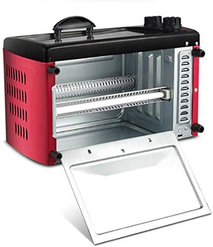 Encimera Horno De Convección Mini Tostadora 12L 750W Nivel 3 Torta De Alas De Pollo Pizza Maker Pan Olla Filete Huevo De La Sartén