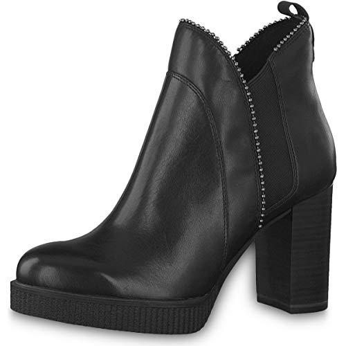 Tamaris Damen Stiefeletten 25009-23, Frauen Stiefelette, Stiefel Boot halbstiefel Damenstiefelette Bootie reißverschluss Damen,Black,36 EU / 3.5 UK