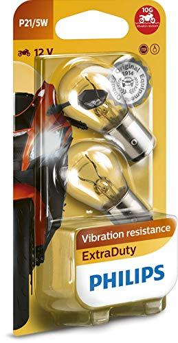 Philips 12499EDBW ExtraDuty - Bombilla de señalización para motocicleta (P21/5W, 1 unidad)