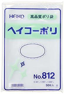 シモジマ ヘイコー ビニール袋 ヘイコーポリ No.812 0.08mm厚 紐なし 50枚 006628200 幅230高340mm
