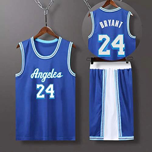 CYYX Jersey Men's Los Angeles Lakers # 24 Bryant Clásico Traje + Pantalones Cortos Jersey Al Aire Libre Retro Sin Mangas Secado rápido Camiseta Transpirable,4XL