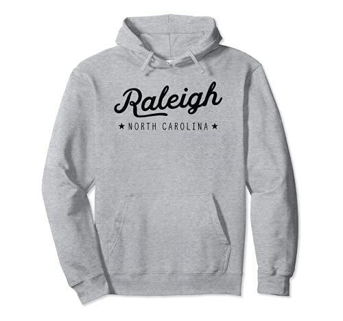 Classic Retro Vintage Raleigh North Carolina USA Felpa con Cappuccio