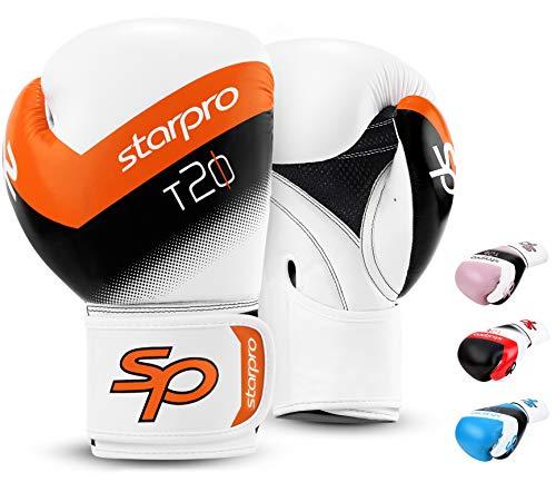 Starpro Kinder T20 Boxhandschuhe | PU Leder | Blau Pink und Weiß | Für Jugendtraining und Sparring im Boxen Kickboxen Fitness und Boxen | Kinder 4oz 6oz