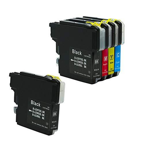 ZIJ LC980 LC985 LC975 Cartuchos de Tinta Fit Compatible for Las impresoras Brother DCP-J140W DCP-145C DCP-165C DCP-195C DCP-197C DCP-365CN (Color : 2BK 1CYM)