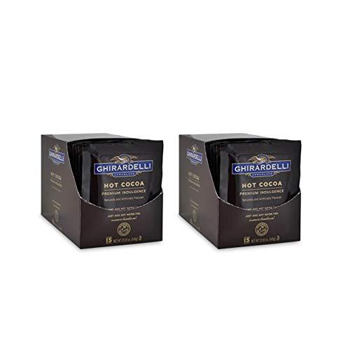 Ghirardelli Premium Indulgence Hot Cocoa Mix, 1.5 oz (Pack of 15) | 2-Pack