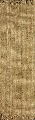 nuLOOM Natura Collection Chunky Loop Jute Runner Rug, 2' 6