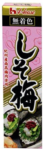 梅子醬 しそ梅 Salted Japanese Plum Paste in Tube (shiso Ume) 1.41 oz/ 40g (2 Packs)