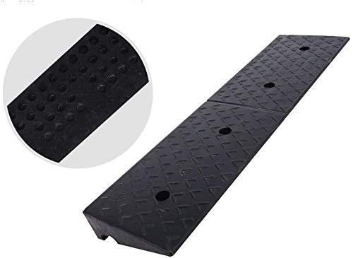 DJSMsnj Rampas de goma resistentes al desgaste, rampas de servicio para vehículos utilitarios, coches, bicicletas, rampas antideslizantes y duraderas (tamaño: 100 x 15 x 3 cm)