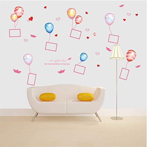 Zlxzlx DIY Ballon fotolijst Hartjes Vlinder Muurstickers voor Kinderkamers Slaapkamer Woonkamer Stickers Koelkast Sticker