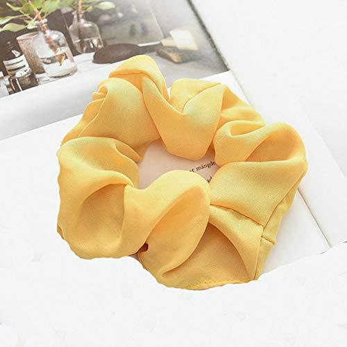 Pieza bandas elásticas para el cabello abrazaderas para el cabello Cuerdas accesorios para el cabello Cuerdas para, para Mujeres, 1pc amarillo