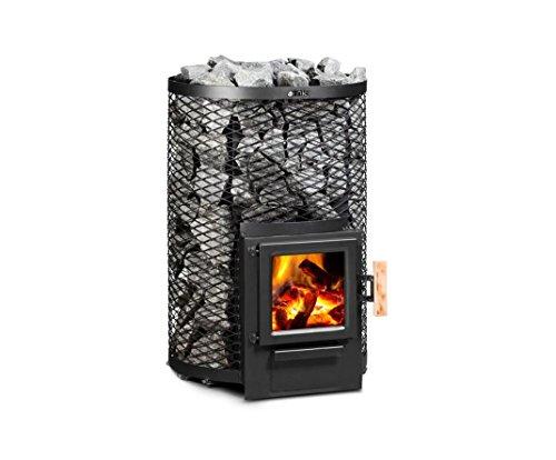 Fintec Saunaofen Holzbeheizt Kjeld 11,8 KW 2. BImSchV ohne Saunasteine