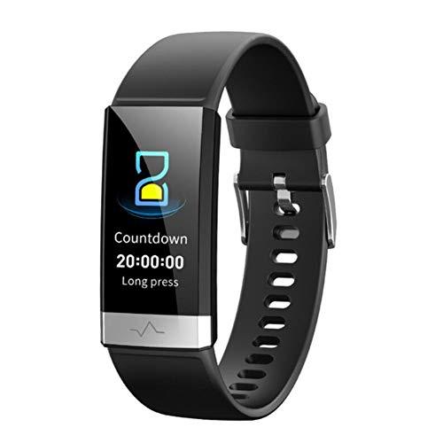 WJDZSB Smartwatch Armband, IP68 Wasserdichtes EKG + PPG + HRV-Herzfrequenz Messgerät Blutdruckmessgerät Fitness Tracker Kompatibel Mit Android- Und IOS-HandysBlack