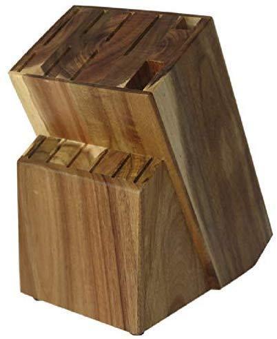 Coninx Messerblock Unbestückt Holz/Messerhalter RAF Messerständer aus hochwertigen Akazienholz gefertigt | Messerhalter für eine organisierte und aufgeräumte Küche (Akazienholz)