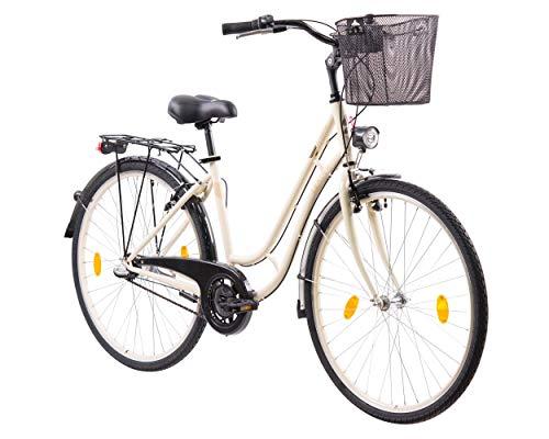 tretwerk DIREKT gute Räder Leader Madeira 28 Zoll Citybike Damen 3-Gang Creme 46 cm (2020)