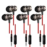 SourceTon 3 Packs Earphone with Remote & Microphone, in Ear Stereo Sound Noise Isolating Tangle Free for Smartphones, Laptops, Gaming, Fits 3.5mm Interface Device
