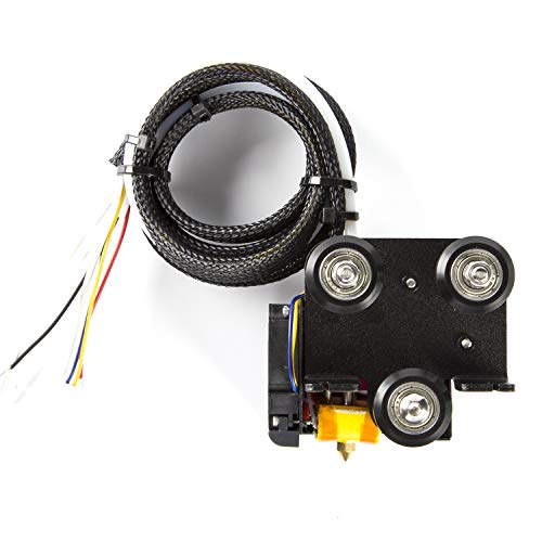 WANGZHI 3D Full Assembled Extruder Kits with 2PCS Fans Cover for Ender-3 3D Printer