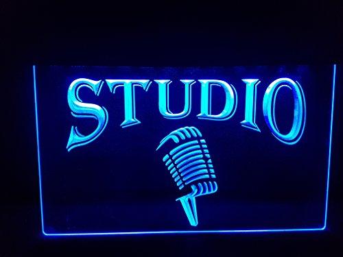 Studio Leuchtschild LED Neu Schild Laden Reklame Neon Neonschild BAR DISCO ON Air TV Radio