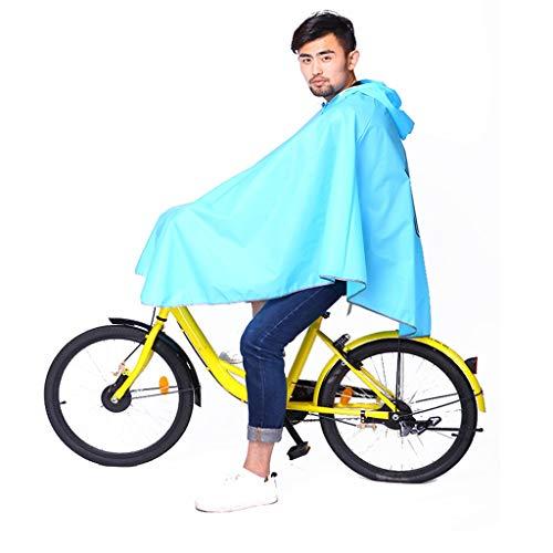 QNJM Poncho A Prueba De Agua, Motocicleta Eléctrica para Hombre Y para Mujer Sombrero Grande Impermeable, Gabardina para Motocicleta con Ranura para Espejo (Color : Azul)