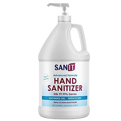 Sanit Hand Sanitizer Gel: One Gallon Alcohol Based Bulk (128 oz) 70% Isopropyl Alcohol Refill Jug (128 oz)