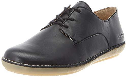 Kickers Fortunia, Zapatos de Cordones Derby Mujer, Negro (Noir 8), 38 EU