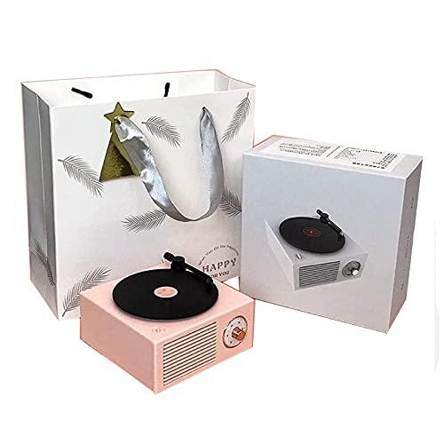 Hcyx Presidente inalámbrico de Bluetooth, Audio del Registro del colágeno Negro Creativo Retro de Walkman(Color:B)