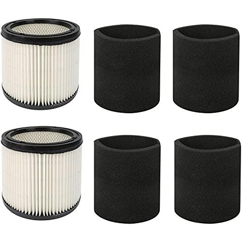 D-TEND 90350 Cartucho de filtro y filtro de espuma 90585, se adapta a aspiradoras Shop-Vac de 5...