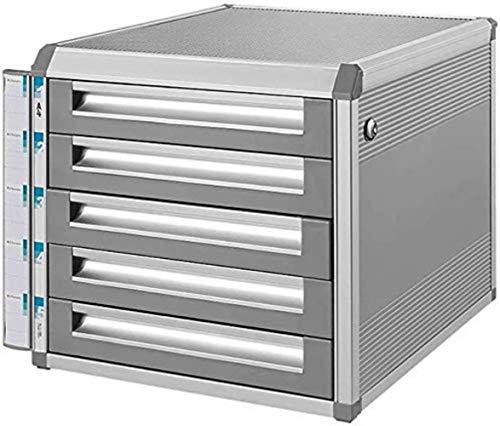 Ablageschränke Aktenschränke Vertikale Büroschrank 5 Drawer Data Storage Box Key Lock Silber 31.5 * 35 * 29.8cm Home Office Möbel Bürobedarf