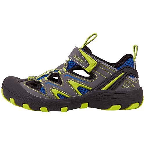 Kappa REMINDER T Outdoor-Schuhe für Teenager │ geschlossene Sandalen mit fester Sohle │ mit Klettverschluss und Schnürkordel │ Mix aus Sneaker & Sandale für Mädchen und Jungen │ in den Größen 36 - 41