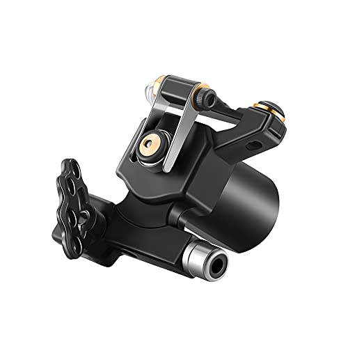 Mummy Rotary Tattoo Machine with RCA Connect Custom Motor for Tattoo Equipment Supplier (black-1)