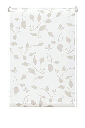 Gardinia EASYFIX Rollo Dekor 100 Scandinavian weiß/natur 120 x 150 cm