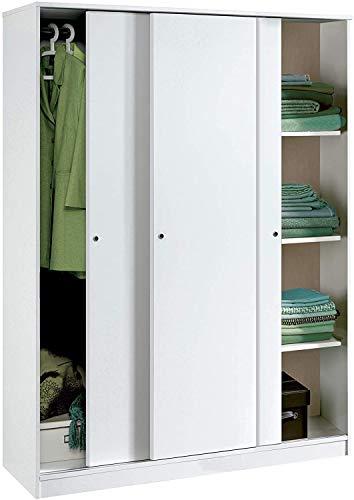 Armario Color Blanco Brillo Grande de 3 Puertas...
