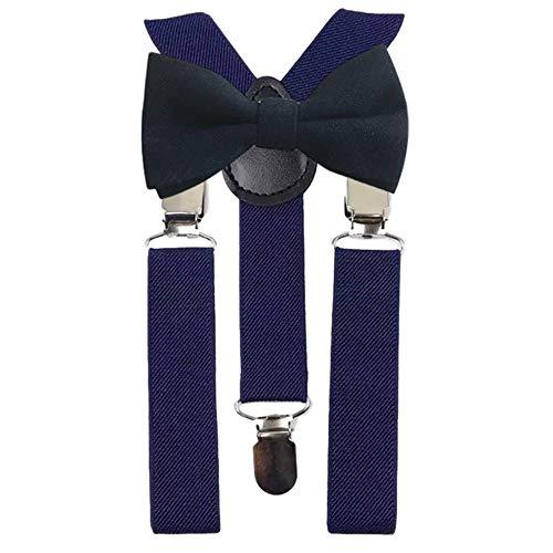DB Dickie Bow Juego de tirantes y pajarita de algodón azul marino para niños y niños