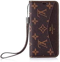 Galaxy S8 Plus Flip Case -Elegant Luxury Wallet Cover Wristlet Strap Designed
