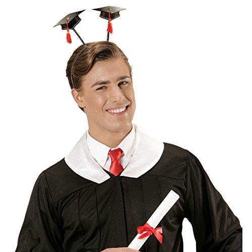 NET TOYS Doktorhut Akademiker Hut am Haarreifen Doktor Absolventenhut Abitur Abschlussfeier Kopfbedeckung Bachelor Kopfschmuck Uni Diplom Kappe Kostüm Accessoires